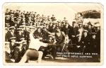 Photo of Fairbanks with sailors from the HMS Capetown, 1926